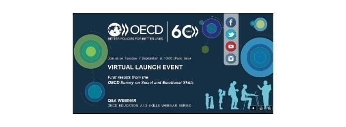 COMPETÊNCIAS SOCIAIS E EMOCIONAIS, conferência on-line, com apresentação do Relatório Internacional, promovida pela OCDE, dia 7 de setembro, às 15h.