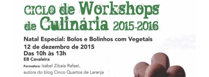 """Workshop """"Natal especial: bolos e bolinhos com vegetais"""""""