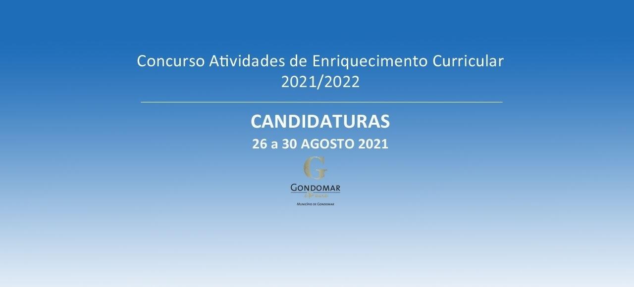 CANDIDATURAS DE 26 A 30 DE AGOSTO DE 2021